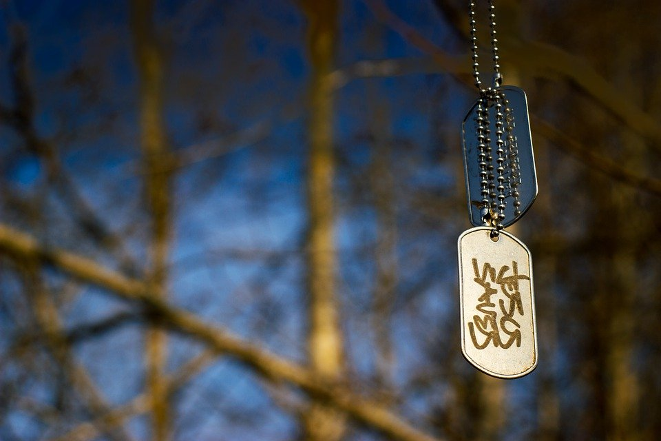 A dog tag of a pet.