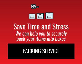 Save Time and Stress: We can help you to securely pack your items into boxes: Packing Service
