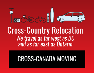 Cross-Country Relocation: We travel as far west as BC and as far east as Ontario: Cross-Canada Moving