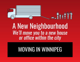 A New Neighbourhood: We'll move you to a new house or office within the city: Moving in Winnipeg